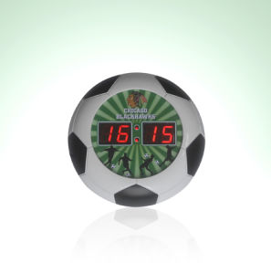 Novelty Promotional LED Digital Gift Clock, Football /Basketball Clock pictures & photos