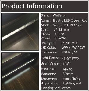 Motion Sensor LED Wordrobe Hang Rail Light pictures & photos