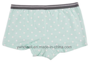 Girl′s Cotton Spandex Printed Hipster Briefs pictures & photos