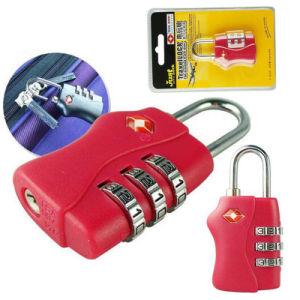 Tsa Customs Security Lock Global Sales Tsa338 3bit Password Lock Luggage Padlock Baggage Package Lock Customs Inspection Lock pictures & photos