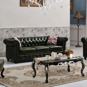 Retro Classic Leather Sofa for Living Room pictures & photos