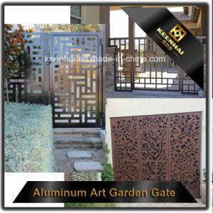 Laser Cut Perforated Metal Sliding Garden Door pictures & photos