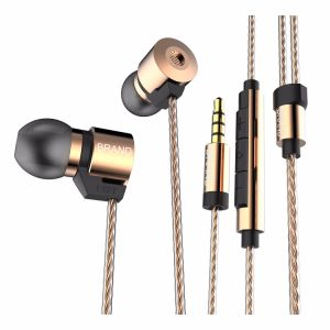 Gold Plated Housing Double Magnets Drivers Noise Isolating HD HiFi Earphone Headphones High Sensitivity