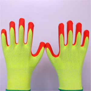 Foam Nitrile Coated Hppe Glass Fiber Gloves pictures & photos