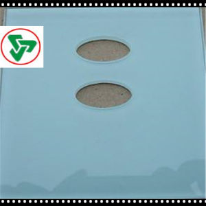 6-8mm Ultra Acid Etched Tempered Furniture Glass with Hole pictures & photos