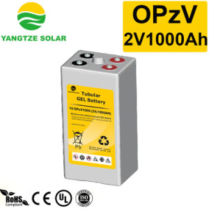 Yangtze 2V1000ah Lead Acid Deep Cycle Tubular Opzv Battery pictures & photos