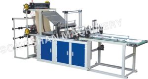 Double Layer Four Line Cold Cutting Bag Making Machine with Conveyor (SHXJ-900FC) pictures & photos