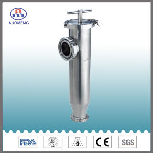 Sanitary Stainless Steel Clamped Angle Type Strainer (ISO-No. NM100205) pictures & photos