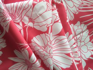Flower Printed Polyester Taffeta Fabric for Women Down Jackets pictures & photos