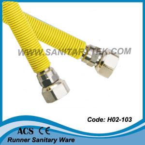 S/S Corrugated Flexible Gas Hose with Yellow PVC (H02-103) pictures & photos