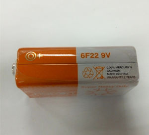 Carbon Zinc 6f22 9V Battery pictures & photos