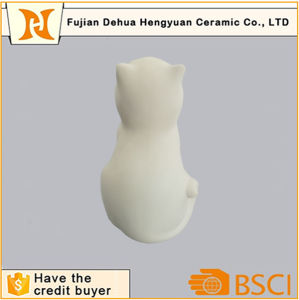 Paintable Ceramic Cat Piggy Bank for Desktop Gift pictures & photos