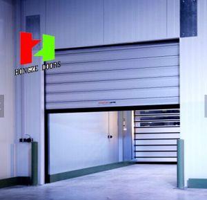 Security Garage Roller Aluminium Profile Security Sliding Aluminium Profile Door (Hz-FC0360) pictures & photos