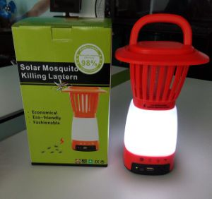 Portable Solar Fly Mosquito Killer with Light and Mobile Charger pictures & photos