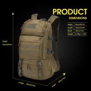 Men′s Molle Bug out Bags Waterproof Army Rucksacks Military Backpacks Tactical Backpack pictures & photos
