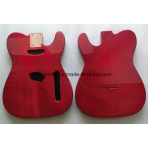 Transparent Red Gloss Finished 2 Piece Mahogany Tele Guitar Body pictures & photos