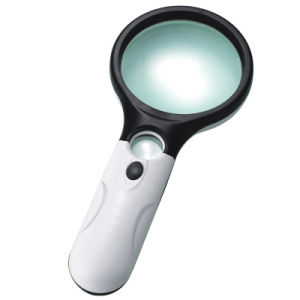 Promotion Gift 3 LED Lamp Handheld 3X and 45X Magnifier pictures & photos