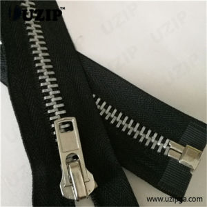 Zipper Exporters in China / Metal Coat Zipper / Open Ended Zips for Jackets / Dull Silver Zipper
