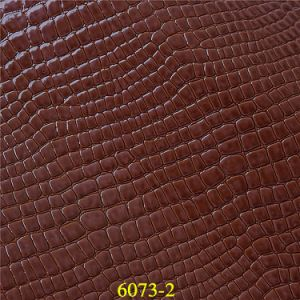 Hot Selling Classic Crocodile Grain Synthetic PU Material Leather pictures & photos