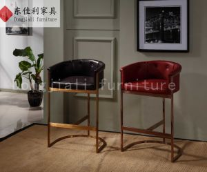 Stainless Steel Frame Bar Stool with PU and Leather Cushion pictures & photos