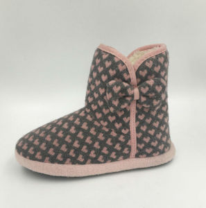 Womens Cute Love Multi Slipper Boots pictures & photos