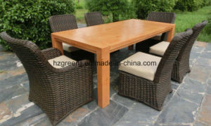 Patio Dining Set Furniture with Extending Table pictures & photos