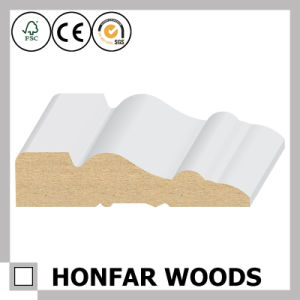 White Primed MDF Crown Moulding or Cornice Moulding pictures & photos