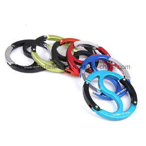 Round Shaped Double Gate Carabiner Clip pictures & photos