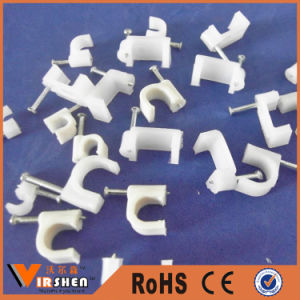 Electric Cable Fixing Clip Small Plastic Wall Cable Clip pictures & photos