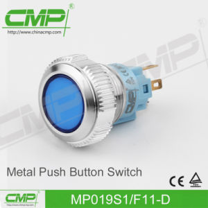 19mm High Head DOT Illuminated LED Light Push Button Switch pictures & photos