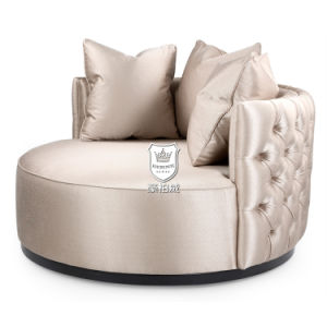 Romantic Round Soft Faux Love Seat pictures & photos