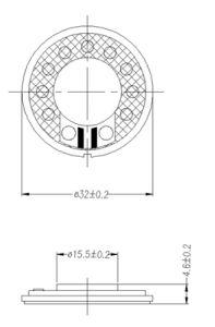 32mm 8ohm 16ohm 32 Ohm Micro Dynamic Mylar Speaker Dxi32n-B pictures & photos