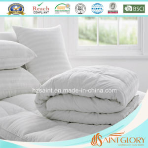 Luxury White Stripe Goose Down Duvet Duck Feather and Down Comforter pictures & photos