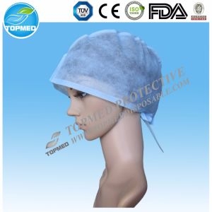 Hot Sale! Disposable Non Woven Surgical Cap with Tie on pictures & photos