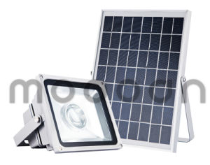Outdoor IP65 Integrated Die Cast Aluminum 50W Solar LED Flood Light for Courtyard