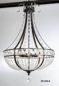 Russia Top Sale Satin Black Crystal Ceiling Lamp pictures & photos