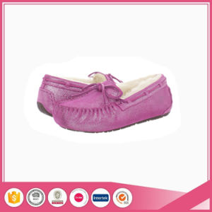 Glitter Slipper Lady Indoor Moccasin Shoes pictures & photos