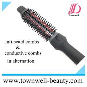 New Product Hair Straightening Hair Curling Brush for Professional pictures & photos