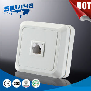 1 Gang Telephone/Computre Wall Socket pictures & photos