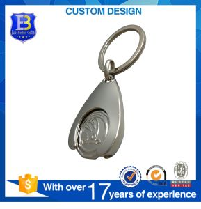 2017 Cheap New Shape Promotional Design Logo Custom Shopping Trolley Coin with Coin Holder pictures & photos
