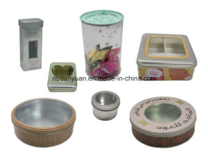 Circular Storage Tin Box, Printed Cookies Tin Box Wholesale