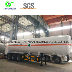 Ln2 34.02m3 Cryogenic Liquid Transportation Semi-Trailer
