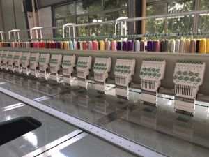 20 Head 9 Colors Flat Embroidery Machine