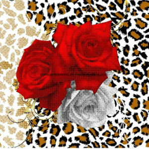 100%Polyester Leopard Rose Series Pigment&Disperse Printed Fabric for Bedding Set pictures & photos
