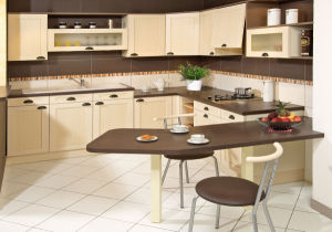 Ritz Furniture, White Simple Style Modular Kitchen Cabinet pictures & photos