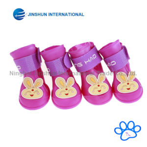 Dog Candy Colors Boots Waterproof Rubber Pet Rain Shoes Booties pictures & photos
