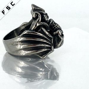 Vogue Factory Sale Skull Stainless Steel Health Crystal Unisex Ring pictures & photos