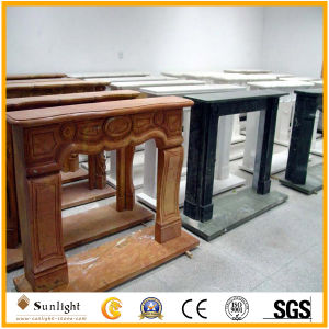 Marble/Stone Fireplace with Flower Fireplace Mantel Surround pictures & photos