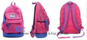 Fashion Canvas Printing Backpack Bag for School, Travel, Leisure, Laptop