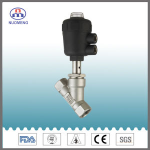 Sanitary Stainless Steel Pneumatic Welded Angle Seat Valve (ISO-No. RJZ0103) pictures & photos